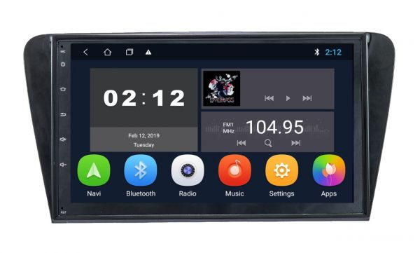 Штатное головное устройство SoundBox SB-8195 2G CA для Skoda Oktavia A7 2014+